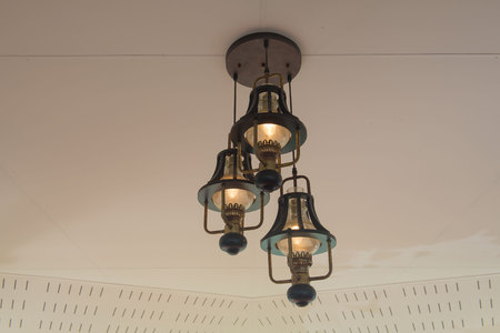 hanging lamp: Classic hanging lamp on the ceiling