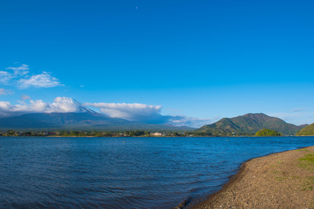 Beautiful Mountain Fuji and  lake in japan