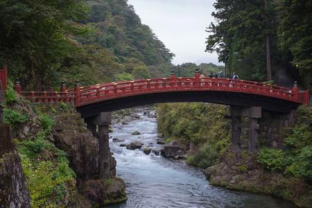 stands: Shinkyo (Sacred Bridge) stands at the entrance to Futarasan Shrine.