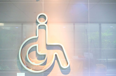 icon Handicap symbol Stick on the wall .