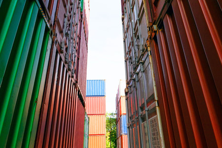Container shipping for Logistic Import Export business and Industrial . Reklamní fotografie