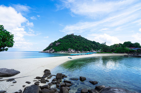 beautiful Island Nangyuan Island, Thailand , Summer vacation . Stock Photo