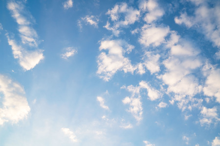 Beautiful blue sky with white clouds for background for background. Standard-Bild