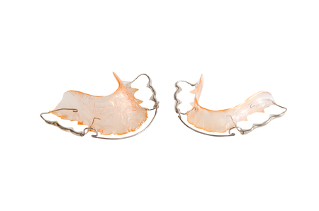 Image of teeth retainer on  photo