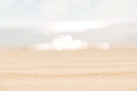 Vintage Summer sand beach and sea sky background