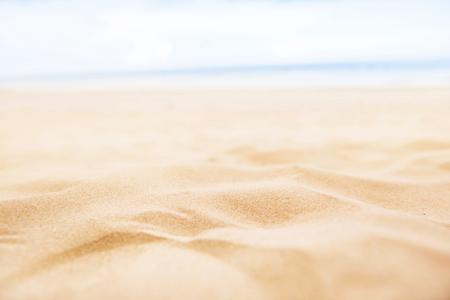 Summer sand beach and sea sky background