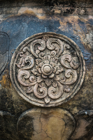 bas relief: Bas relief motif de sculpture Tha�lande