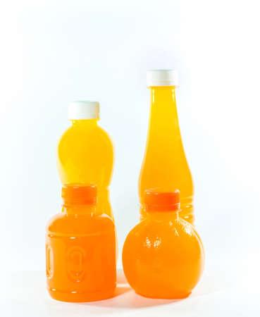 juice bottle: Orange Juice Bottle Isolated on White Stock Photo