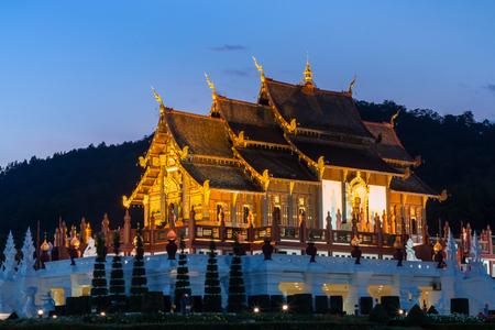 Twilight wat Ho kham luang temple northern thailand