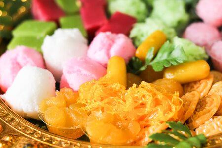 sweetmeat: Thai dessert golden sweetmeat