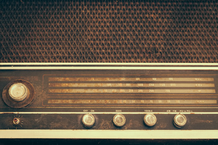 retro music: Vintage fashioned radio