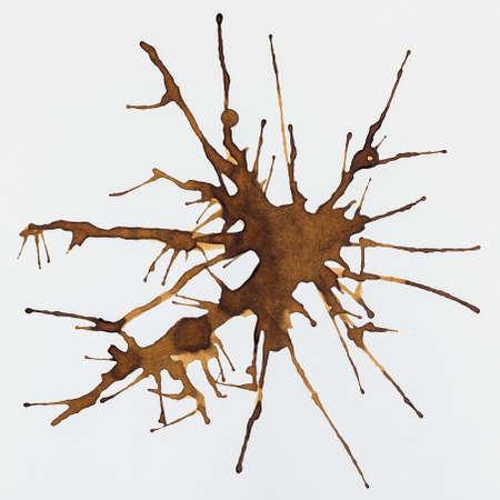 cruddy: Coffee Stain Set, Isolated On White Background Stock Photo