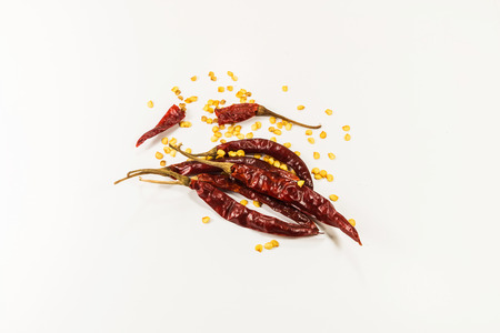 Dried chili. Stock Photo