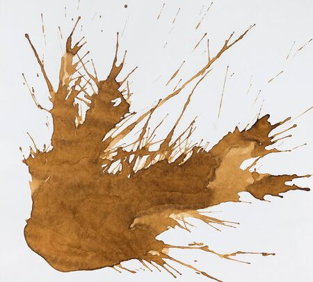 ink stain: Coffee stain