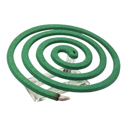 fumigador: repelentes de mosquitos en el fondo blanco