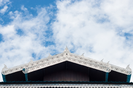 apex: Gable apex on the top roof in Thai temple