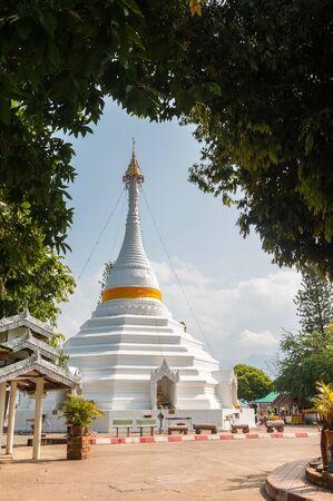 grand sons: Temple Wat Phra That Doi Kong Mu. Mae Hong Son, Thailand Stock Photo