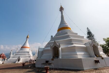 grand sons: Mae Hong Son, Thailand-Dec 20,2015 :Temple Wat Phra That Doi Kong Mu. Mae Hong Son, Thailand on december 20,2015 Stock Photo