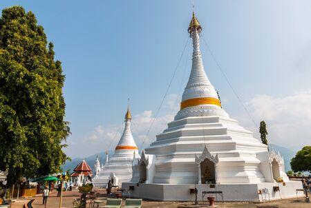 grand sons: Mae Hong Son, Thailand-Dec 20,2015 :Temple Wat Phra That Doi Kong Mu. Mae Hong Son, Thailand on december 20,2015 Editorial