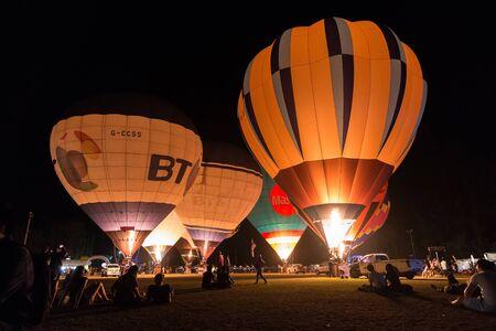 CHIANG MAI-MAR 4: Thailand International Balloon Festival 2016 9th at Payap University on 4 Mar 2016 in Chiang Mai ,Thailand. Editorial