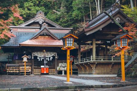 YAMANASHI, JAPAN - Nov 15, 2017: Arakura Fuji Sengen Shrine in Yamanashi Prefecture, Japan. Yamanashi Prefecture is a prefecture of Japan located in the Chubu region of the main island of Honshu.