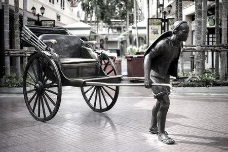 praya: Tricycle Asiatique Tourism of Bangkok at Shopping and Dinner near jao praya river