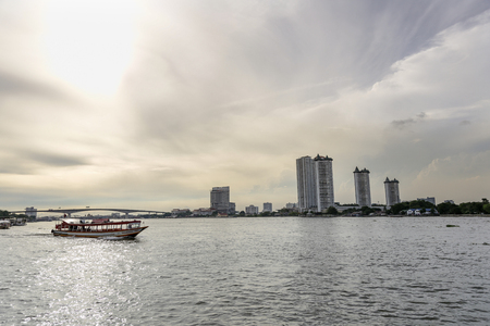 praya: Asiatique Tourism of Bangkok at Shopping and Dinner near jao praya river