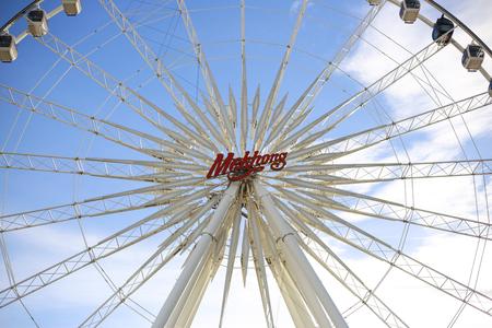 praya: Ferris wheel Asiatique Tourism of Bangkok at Shopping and Dinner near jao praya river