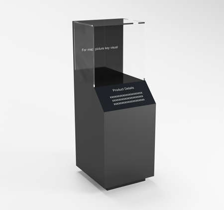 outpost: Product Showcase Cabinet with clear glass 3D rendering for map Product and Detail