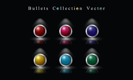 bullets: Bullets Collection Vector