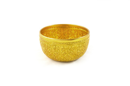 bronze bowl: Gold Bowl Stripe thailand