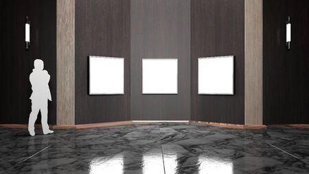 lightbox: Lightbox in Showroom luxury and Smart style 3D rendering Stock Photo