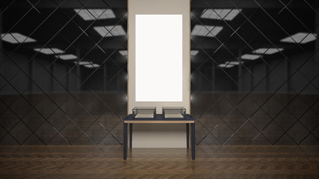 visually: lightbox on luxury and prestige style 3d rendering