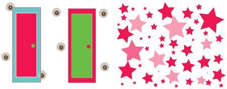 door and stars Иллюстрация
