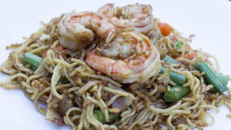 fried noodle: stir fried noodle Stock Photo