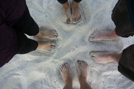 8 feet on the sand