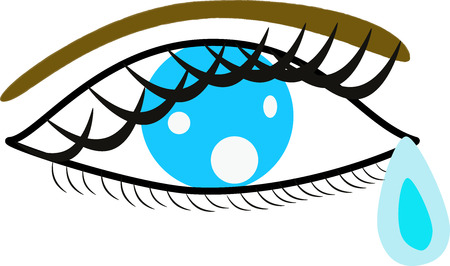 tear drop: blue eye with tear drop