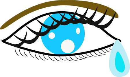 blue eye with tear drop