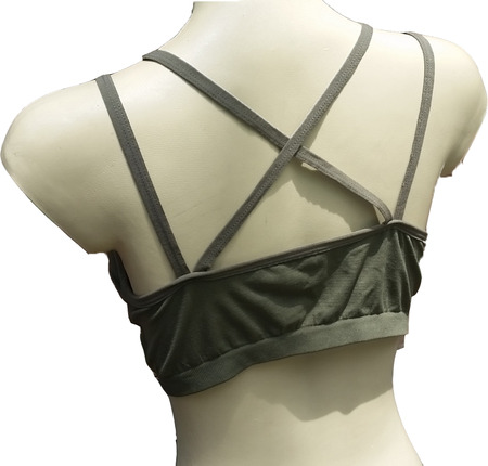 back side bra on a manniquin on a white background