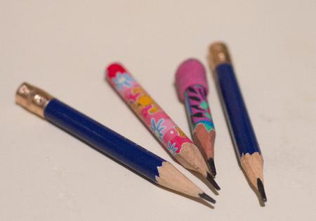 pencils on a white paper Banco de Imagens