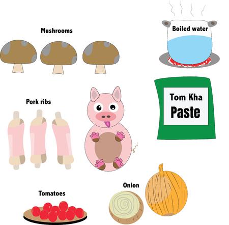 ingredients design illustration.
