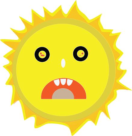 Sun design illustration. Иллюстрация