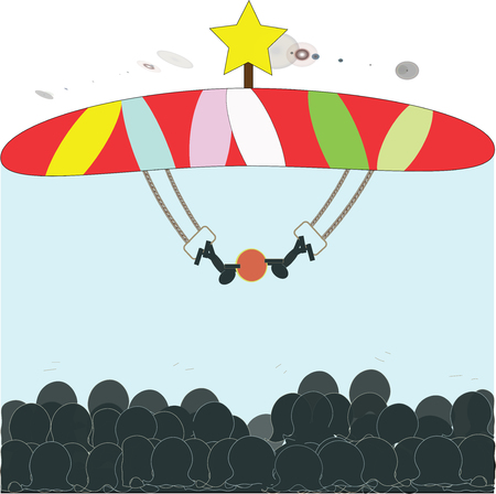 Circus stage illustration