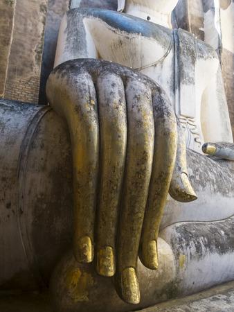 buddha statue hand close-up