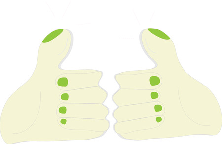 thumb up two hands illustration idea