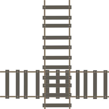 train tracks illustration