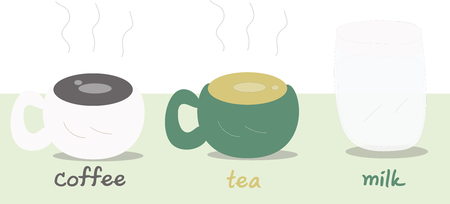 coffee tea milk illustration Stockfoto - 100788990