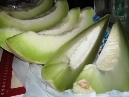 slices honey dew