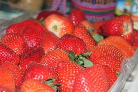 fresh red strawberries