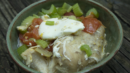 chicken and eggs noodles